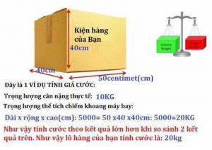 Các xác định số kí (kg)