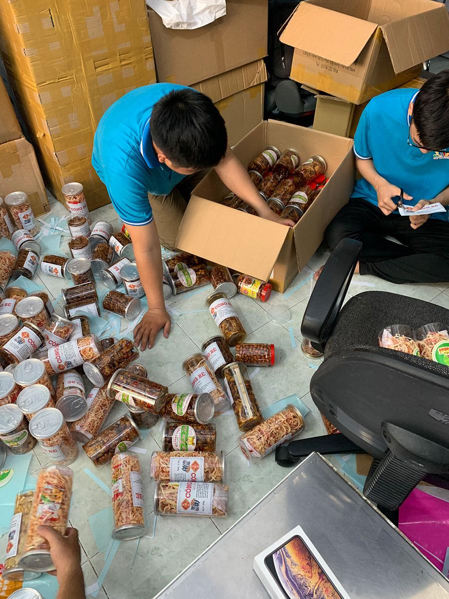 Đóng gói gửi hàng đi Hàn Quốc